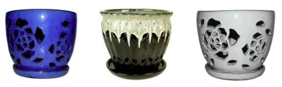 pot pour orchidées céramique