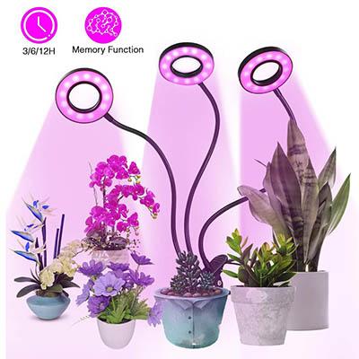 Lampe de Plante,Tomshine 54 LED 27W Lampe de Croissance à 3 Têtes 360° Éclairage Horticole,3 Modes de Luminosité:5 Niveaux Dimmables: 3 Modes de Minuterie (3:6:12H) : Fonction de mémoire